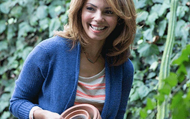 photo of woman in garden