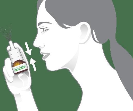 Tenez le vaporisateur, évitez de le diriger vers le visage et pompez jusqu'à l'apparition d'une fine vaporisation.