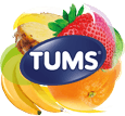 TUMS Assorted Tropical Fruit Logo