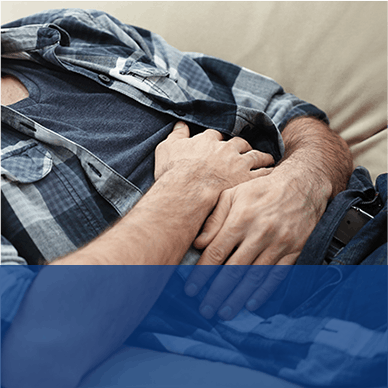 Man Experiencing Stomach Pain