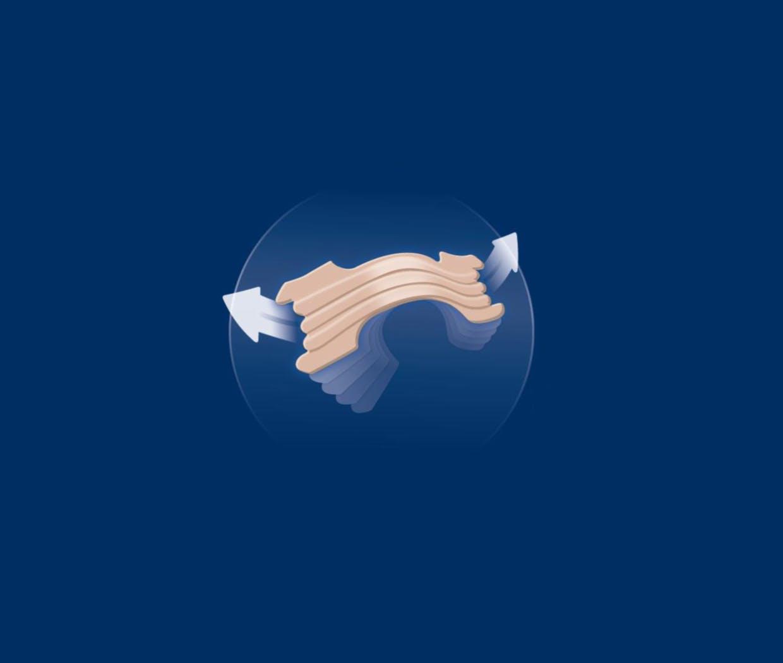 Illustration du fonctionnement d'un bandelette nasale Prorhinel pour narines bouchées.