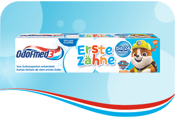 Odol-med3 Erste Zähne Zahnpasta.