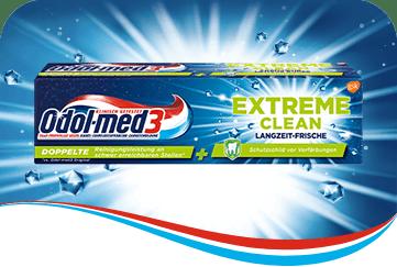 Odol-med3 Extreme Clean Langzeit-Frische Zahnpasta.