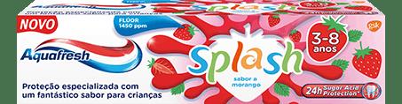 Aquafresh Splash toothpaste colorful packaging.