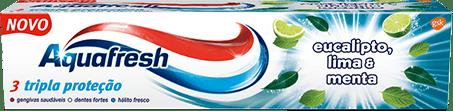 Aquafresh Senses Revitalising toothpaste blue and green packaging.