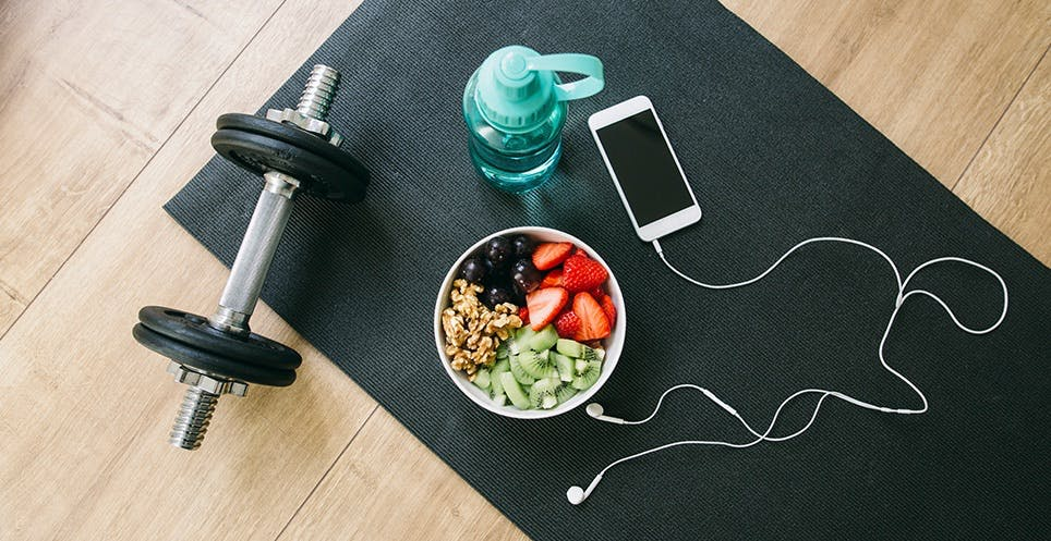 Proper diet and exercise helps keep the microbiome healthy