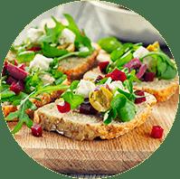 Open Face Goat Cheese Sandwich