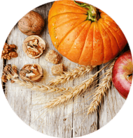 Fall Fruits and Veggies With Fiber