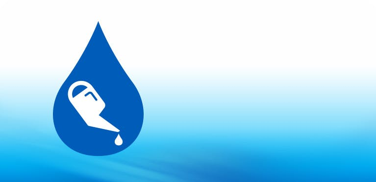 oil can icon with blue background