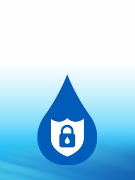lock icon with blue background