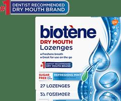 Biotene dry mouth lozenges product box