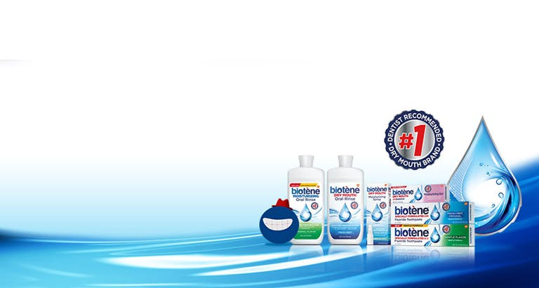Variety of Biotène products | Number 1 Pharmacist recommended brand for a dry mouth