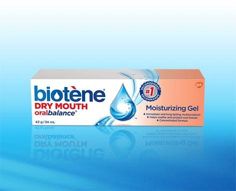 Box of Biotène Dry Mouth oralbalance Moisturizing Gel