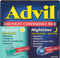 Advil Day/Night Convenience Pack package design