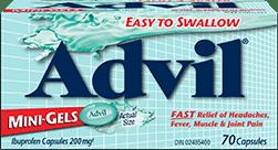 Advil Mini-Gels package design