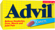 Advil Caplets package design