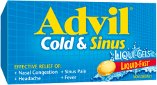 Advil Cold & Sinus Liqui-Gels® package design