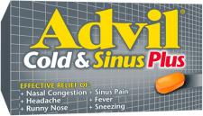 Advil Cold & Sinus Plus package design