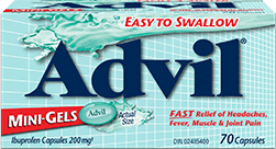 Advil Mini-Gels package design