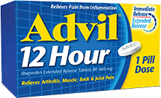 Advil 12 Hour package design