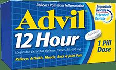 Advil 12 Hour package design