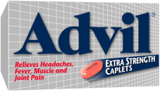Advil Extra Strength Caplets package design
