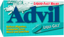 Advil Liqui-Gels package design