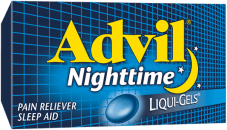 Advil Nighttime package design