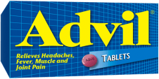 Advil Tablets package design