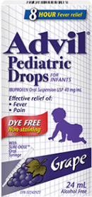 Advil Pediatric Drops package design