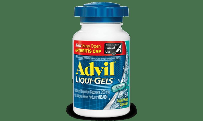 Advil Liquid Filled Capsule Easy Open Arthritis Cap for minor arthritis pain relief