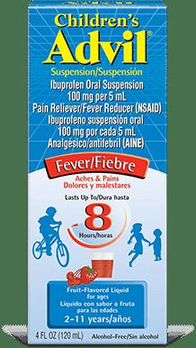 Children's Advil Suspension Fruit Flavor