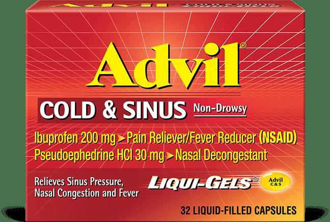 Advil cold and sinus liqui gels