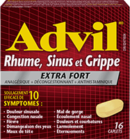 Advil Cold, Sinus Flu Extra Strength package design