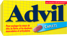 Caplets Advil package design