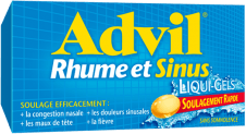 Liqui-GelsMD Advil Rhume et Sinus package design