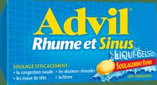 Liqui-GelsMD Advil Rhume et Sinus package design