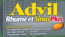 Advil Rhume et Sinus Plus package design