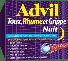 Advil Toux, Rhume et Grippe Nuit package design