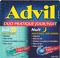 Advil Duo pratique Jour/Nuit package design
