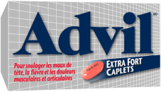 Caplets Advil Extra Fort package design