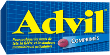 Comprimés Advil package design