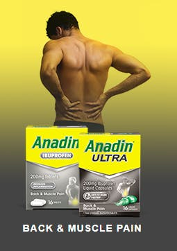 ANADIN FOR BACK & MUSCLE PAIN