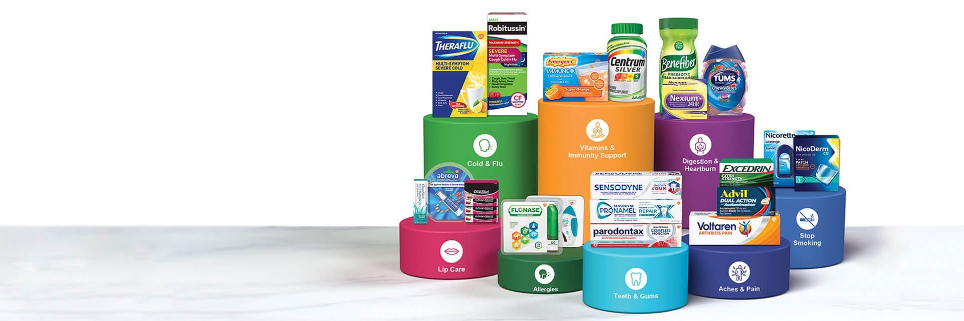 From flu season to allergy season, oral health to immune support, you can turn to GSK. Our family of brands can provide exactly what you need to be well and stay well, all year long.