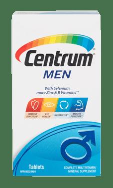 Centrum Men package design