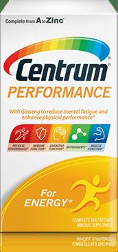 Centrum Performance package design