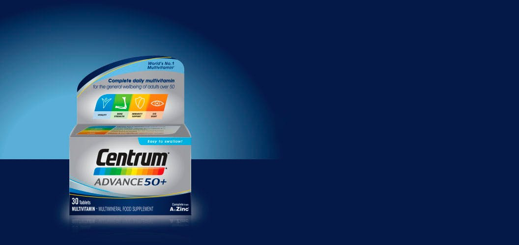 Product visual of Centrum Advance 50+