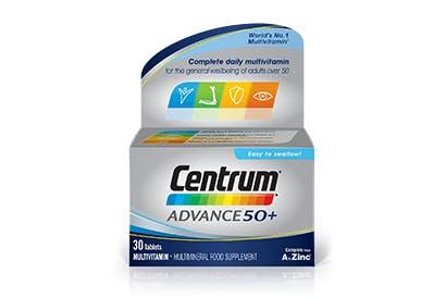 Product visual of Centrum Advance 50+