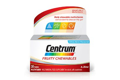 Product visual of Centrum Fruity Chewables