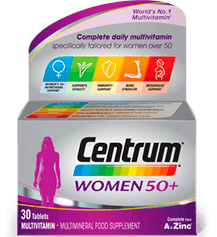 Product visual of Centrum Women 50+